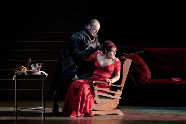 Falk Struckmann, Sondra Radvanovsky at TOSCA at the Metropolitan Opera