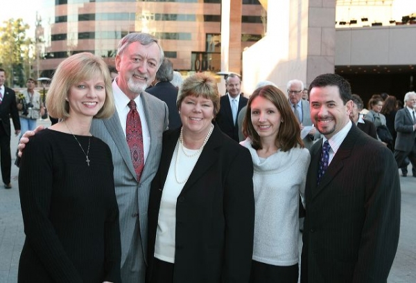 Sandy Segerstrom Daniels, husband John Daniels, Sally Segerstrom, Tiffany Modica and husband Joseph Modica