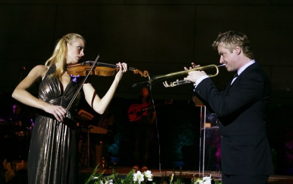 Caroline Campbell and Chris Botti