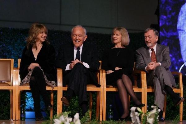 Elizabeth Segerstrom, Founding Chairman Henry Segerstrom, Sandy Segerstrom Daniels and John Daniels