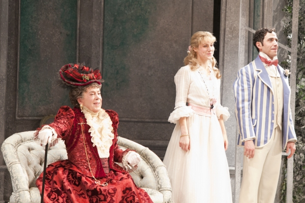 Brian Bedford, Charlotte Parry and Santino Fontana at THE IMPORTANCE OF BEING EARNEST Opens on Broadway