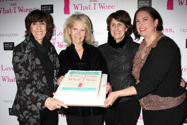 Nora Ephron, Daryl Roth, Delia Ephron, and Karen Carpenter