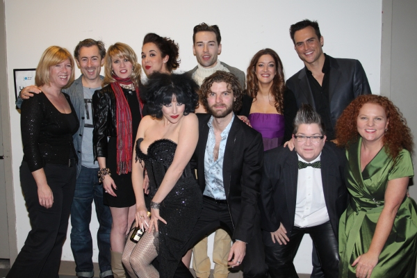 Daisy Prince, Alan Cumming, Lauren Kennedy, Alexandra Silber, Paul Spicer, Julie Atherton, Cheyenne Jackson, Meow Meow, Lance Horne, Lea DeLaria and Janette Mason at LANCE HORNE: FIRST THINGS LAST at Lincoln Center