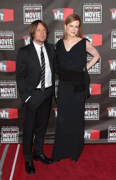 Keith Urban and Nicole Kidman at The 16th Annual Critics Choice Awards