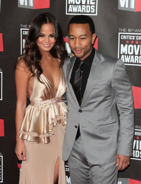 Christine Teigen, John Legend at The 16th Annual Critics Choice Awards