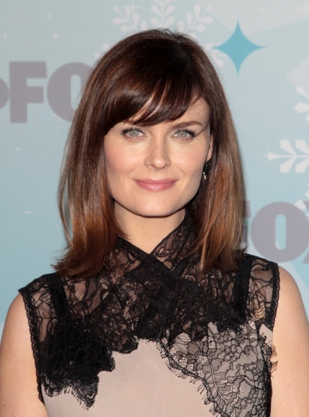 Emily Deschanel at GLEE Cast at Fox All Star Party!
