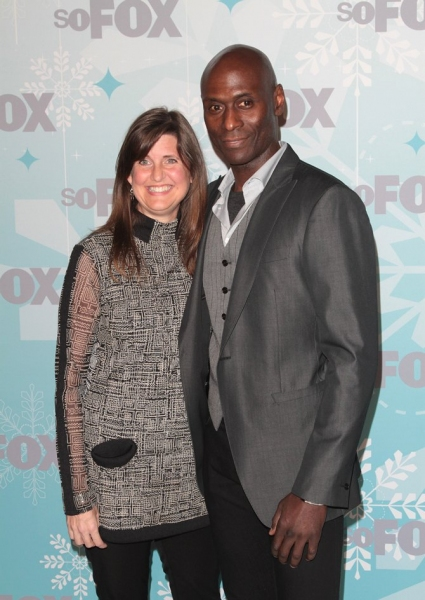 Lance Reddick at GLEE Cast at Fox All Star Party!