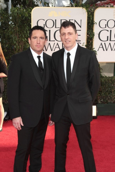 Trent Reznor and Atticus Ross pictured at the 68th Annual Golden Globe Awards held at The Beverly Hilton hotel in Beverly Hills, California on January 16, 2011.  ïÂ�¿Â½ RD / Orchon / Retna Digital. *** Local Caption ***