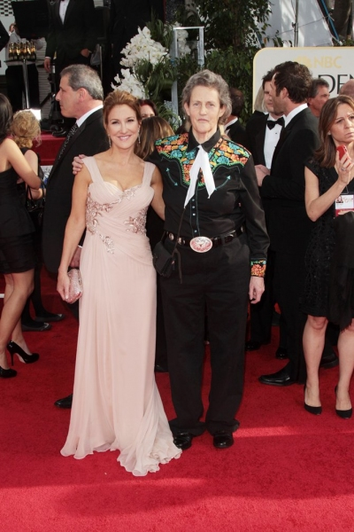 Emily Gerson and Temple Grandin pictured at the 68th Annual Golden Globe Awards held at The Beverly Hilton hotel in Beverly Hills, California on January 16, 2011. ïÂ�¿Â½ RD / Orchon / Retna Digital.