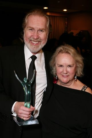 Harry Groener (L) and wife actress Dawn Didawick
