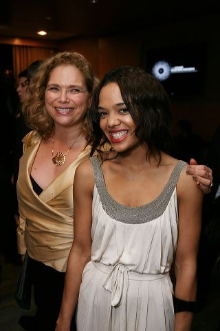 Jeryll Adler (L) and presenter Tessa Thompson