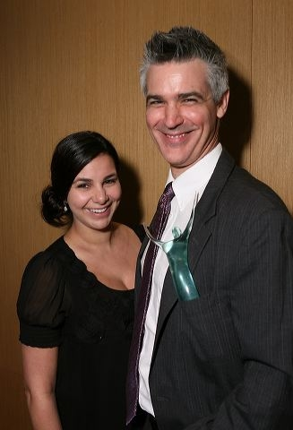 Carina Mclaughlin (L) and Ovation award winner Jeff Mclaughlin  Photo