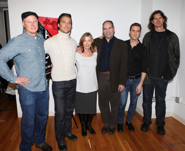 Playwright David Hay, Michael T. Weiss, Donna Bullock, Daniel Oreskes, Scott Drummond & director Wilson Milam attends the Off-Broadway Cast Meet & Greet for