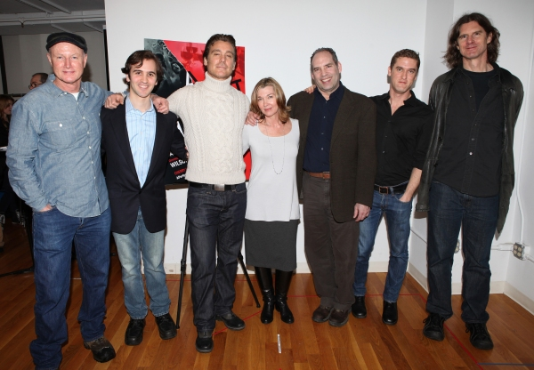 Playwright David Hay, Producer Andy Sandberg, Michael T. Weiss, Donna Bullock, Daniel Oreskes, Scott Drummond & director Wilson Milam attends the Off-Broadway Cast Meet & Greet for  at Meet the Company of A PERFECT FUTURE