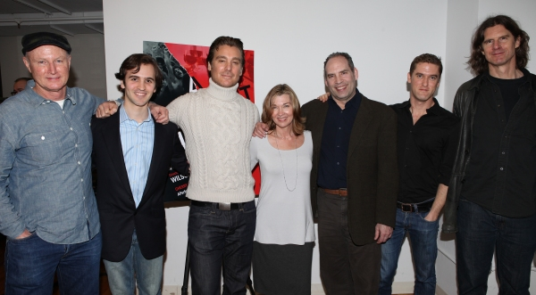 Playwright David Hay, Producer Andy Sandberg, Michael T. Weiss, Donna Bullock, Daniel Photo