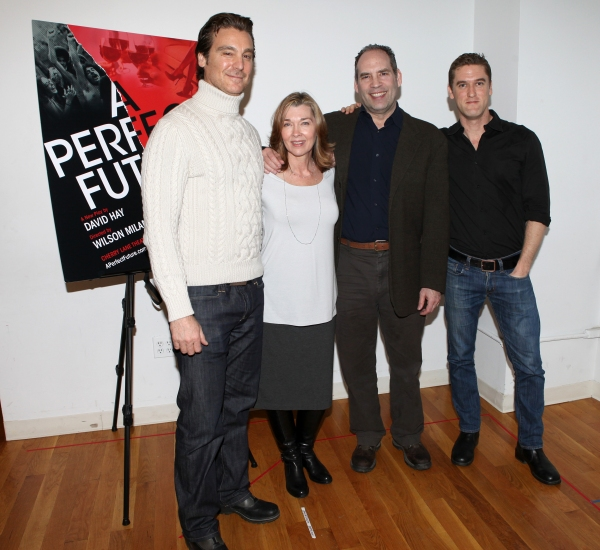 Michael T. Weiss, Donna Bullock, Daniel Oreskes, Scott Drummond attends the Off-Broadway Cast Meet & Greet for