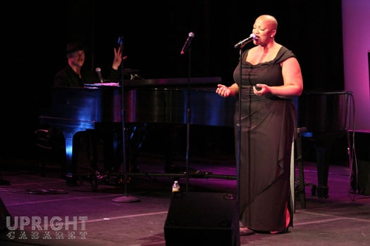 Todd Schroeder and Frenchie Davis at Upright Cabaret's American Icon Series at Thousa Photo