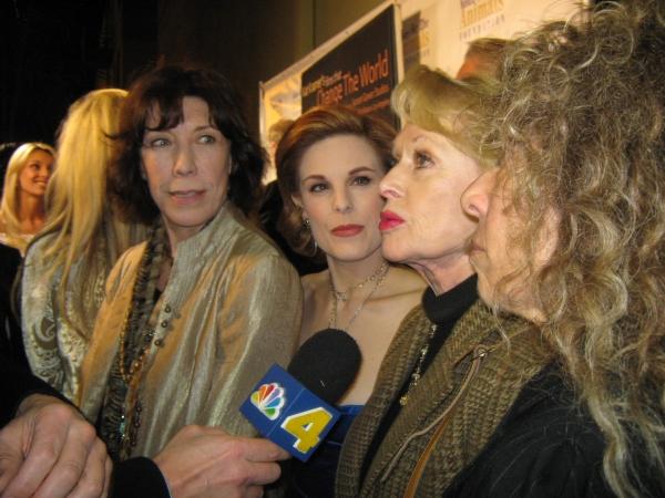 Actresses Lily Tomlin, Kat Kramer, Tippi Hedren and Melya Kaplan