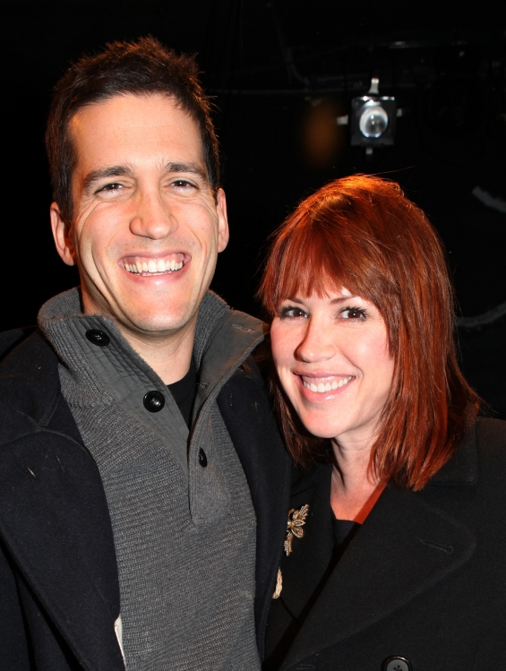 Molly Ringwald with husband Panio Gianopoulos visit ...