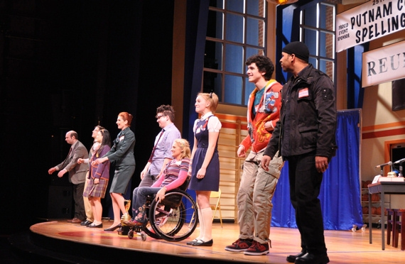 The Cast of The 25th Annual Putnam County Spelling Bee-Ephie Aardema, Will Blum, Lyle Colby Mackston, Marla Mindelle, Olivia Oguma, Jerold E. Solomon, Ali Stroker, David Volin and Brandon Yanez