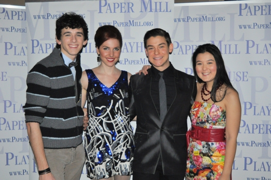 Lyle Colby Mackston, Marla Mindelle, Brandon Yanez and Olivia Oguma at 25th ANNUAL PUTNAM COUNTY SPELLING BEE Opens at Paper Mill