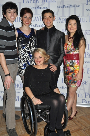 Lyle Colby Mackston, Marla Mindelle, Brandon Yanez , Olivia Oguma and Ali Stroker at 25th ANNUAL PUTNAM COUNTY SPELLING BEE Opens at Paper Mill
