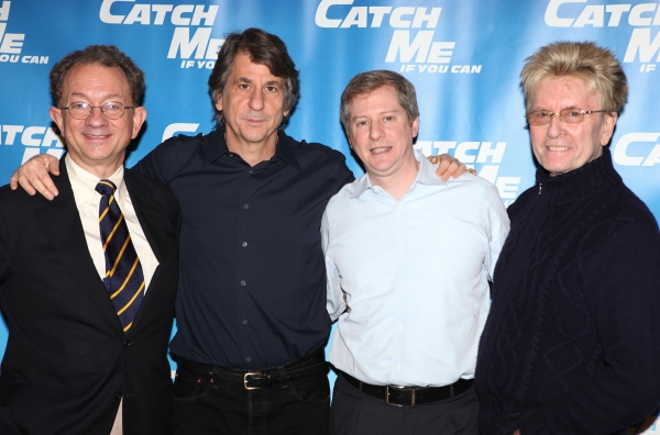 William Ivey Long, David Rockwell, Kenneth Posner, Paul Huntley attending Meet & Greet for the New Broadway Musical 'Catch Me If You Can'  at the 42ns Street Rehearsal Studios in New York City.