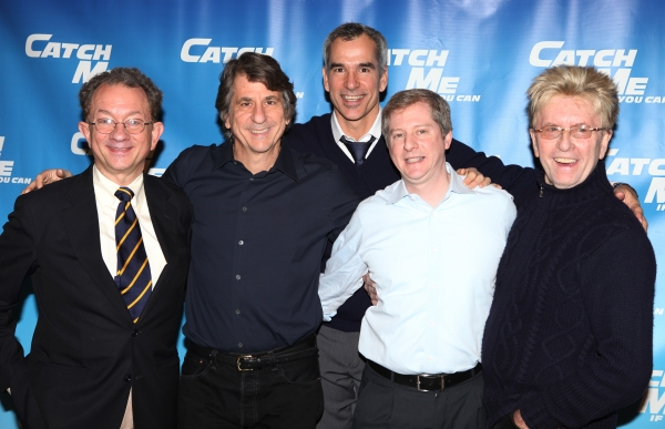 William Ivey Long, David Rockwell, Jerry Mitchell & Kenneth Posner, Paul Huntley attending Meet & Greet for the New Broadway Musical 'Catch Me If You Can'  at the 42ns Street Rehearsal Studios in New York City.