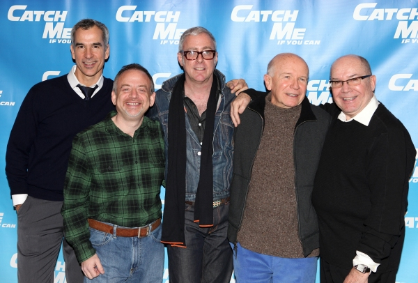 Jerry Mitchell, Marc Shaiman, Scott Whittman, Terrence McNally, Jack O'Brien attending Meet & Greet for the New Broadway Musical 'Catch Me If You Can'  at the 42ns Street Rehearsal Studios in New York City.