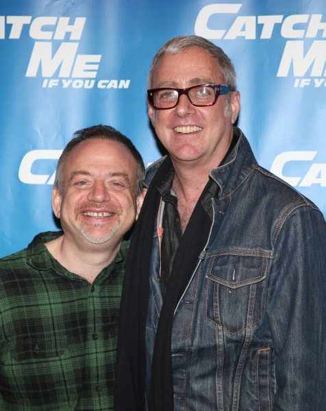 Marc Shaiman & Scott Whittman attending Meet & Greet for the New Broadway Musical 'Catch Me If You Can'  at the 42ns Street Rehearsal Studios in New York City.