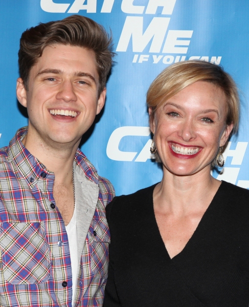 Aaron Tveit & Rachel de Benedet attending Meet & Greet for the New Broadway Musical 'Catch Me If You Can'  at the 42ns Street Rehearsal Studios in New York City. at Introducing CATCH ME IF YOU CAN - Complete Coverage!