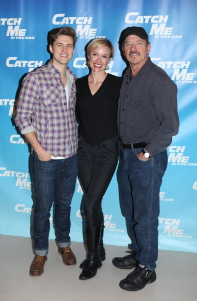 Aaron Tveit & Rachel de Benedet & Tom Wopat attending Meet & Greet for the New Broadway Musical 'Catch Me If You Can'  at the 42ns Street Rehearsal Studios in New York City. at Introducing CATCH ME IF YOU CAN - Complete Coverage!