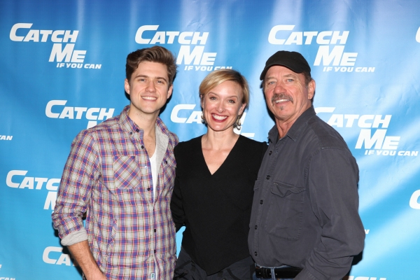 Aaron Tveit, Rachel de Benedet & Tom Wopat attending Meet & Greet for the New Broadway Musical 'Catch Me If You Can'  at the 42ns Street Rehearsal Studios in New York City.