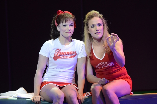 Kelly Feltous as Eva (left) and Amanda Lea LaVergne as Campbell (right)  at First Look at the World Premiere of BRING IT ON at the Alliance Theatre in Atlanta!