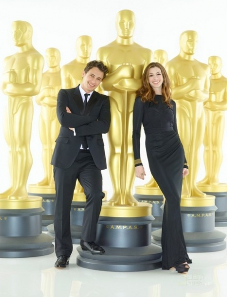 James Franco and Anne Hathaway at Hathaway & Franco - First Oscar Promo Shots!