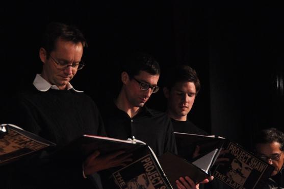 Michael Riedel, Michael Schulman and Frank DiLella