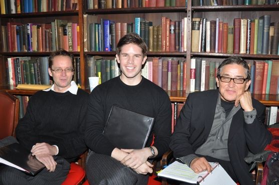 Michael Riedel, Frank DiLella and Patrick Pacheco