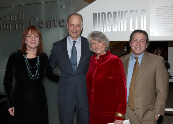 Jacqueline Z. Davis, Dr. Paul Lecleric, Louise Hirshfeld Cullman & David Leopold attends the reception and unveiling for the Al Hirschfeld permanent installation at The New York Public Library for Performing Arts in New York City.