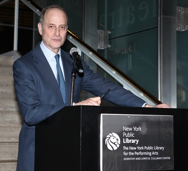 Dr. Paul Lecleric, President of New York Public Library attends the reception and unveiling for the Al Hirschfeld permanent installation at The New York Public Library for Performing Arts in New York City.