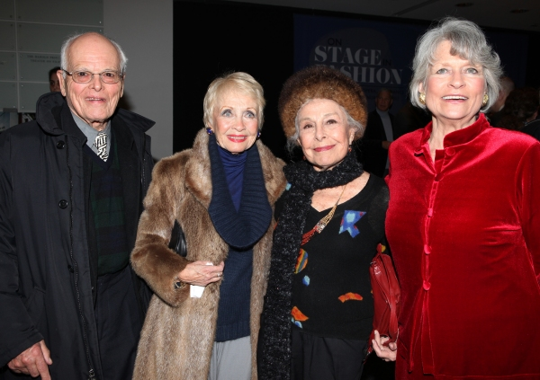 Dick Moore & Jane Powell & Marge Champion & Louise Hirschfeld Cullman attends the reception and unveiling for the Al Hirschfeld permanent installation at The New York Public Library for Performing Arts in New York City.