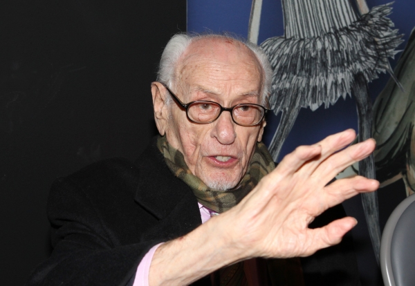 Eli Wallach attends the reception and unveiling for the Al Hirschfeld permanent installation at The New York Public Library for Performing Arts in New York City.