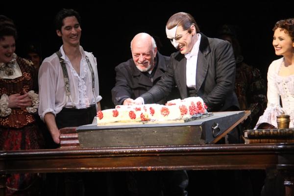 Sean MacLaughlin, Harold Prince, and Hugh Panaro at THE PHANTOM OF THE OPERA Celebrates 23 Years!