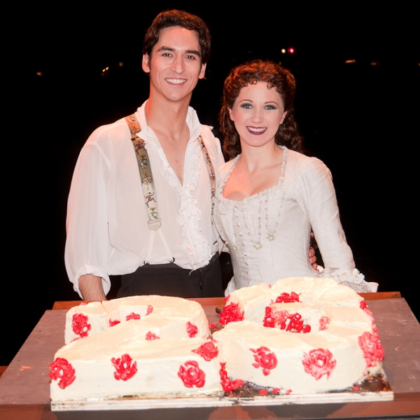 Sean MacLaughlin and Sara Jean Ford at THE PHANTOM OF THE OPERA Celebrates 23 Years!