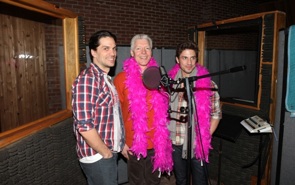 Will Swenson & Tony Sheldon & Nick Adams attending the Broadway Original Cast Recordi Photo