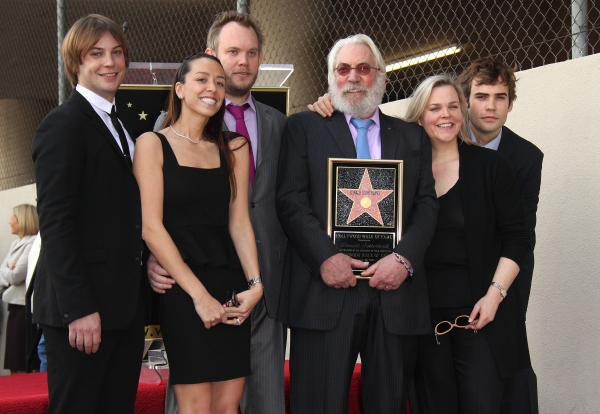 Walk of Fame Honors Donald Sutherland with a star in Hollywood, here he poses with family members