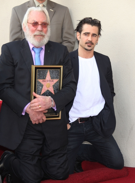 Colin Farrell joins as Walk of Fame Honors Donald Sutherland with a star in Hollywood.