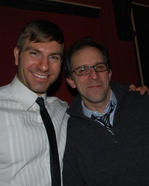 Karl Warden (UPS Man) and Director John Rando Photo