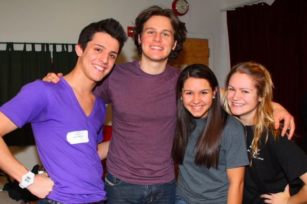 Clay Thomson, Amanda Lupacchino, and Emmeline Wood with Jonathan Groff at Jonathan Groff at Broadway Artists Alliance
