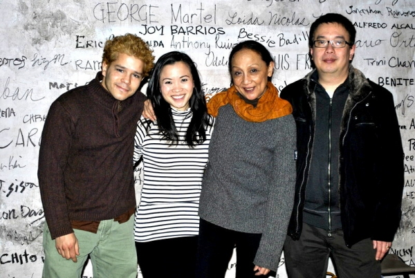 Carlo Alban, Tina Chilip, Ching Valdes-Aran and playwright Ralph B. Pena pose for BroadwayWorld.com