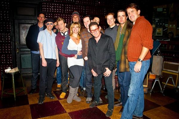 Lee Rocker & the cast of Million Dollar Quartet